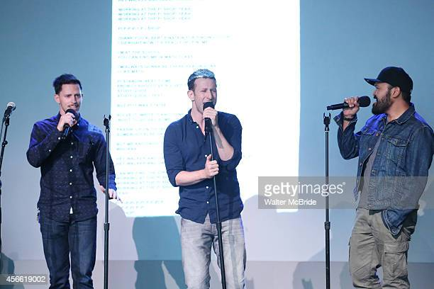 Andrew Call Nick Blaemire and Orville Mendoza from the cast of 'Found' attend an Exclusive Apple Soho Store First Public Live Performance Creative...