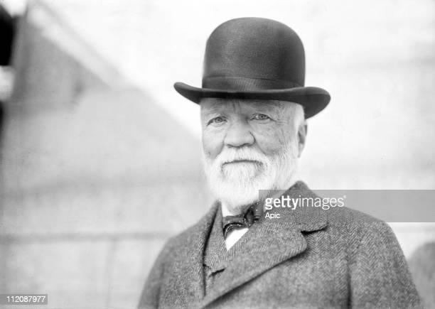 Andrew Carnegie American industrialist and humanitarian philanthropist 1913