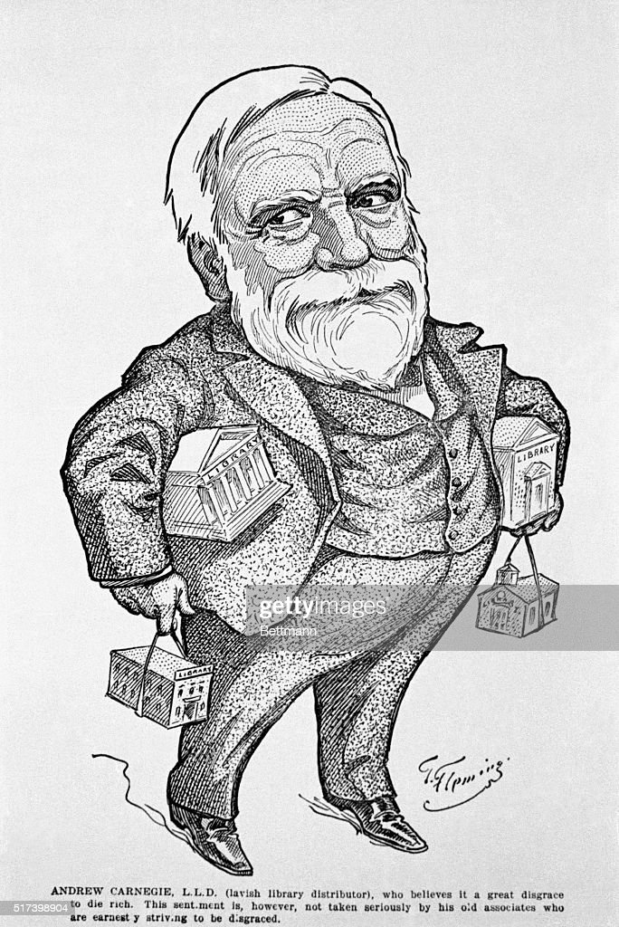 Illustration of Andrew Carnegie : News Photo