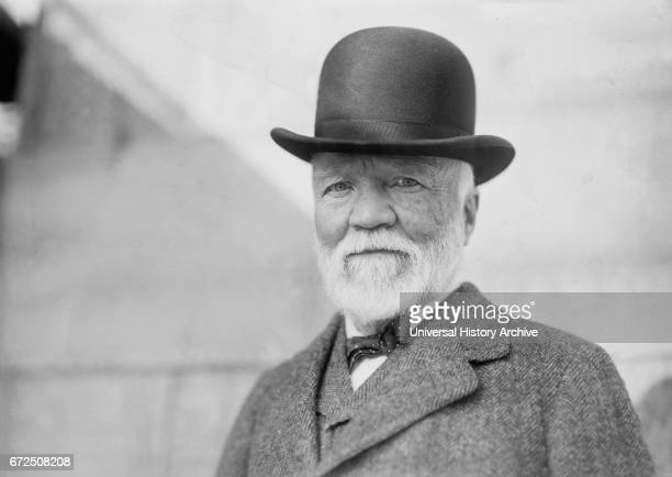 Andrew Carnegie Portrait upon Return from Trip to Europe New York City New York USA Bain News Service October 1913