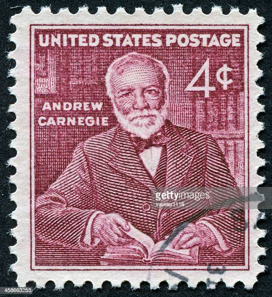 andrew carnegie stamp - andrew carnegie stock pictures, royalty-free photos & images