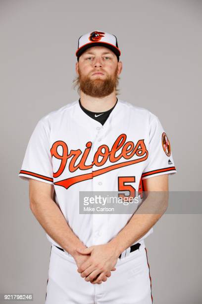 Andrew Cashner of the Baltimore Orioles poses during Photo Day on Tuesday February 20 2018 at Ed Smith Stadium in Sarasota Florida