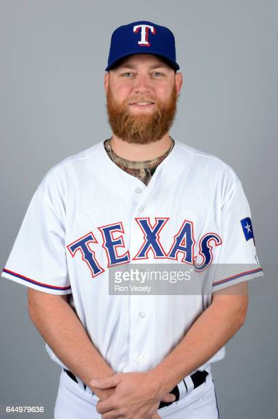 Andrew Cashner of the Texas Rangers poses during Photo Day on Wednesday February 22 2017 at Surprise Stadium in Surprise Arizona