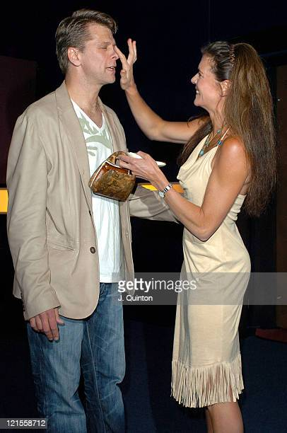 Andrew Castle and Annabel Croft during Hell's Kitchen II Day 2 Arrivals at 146 Brick Lane in London Great Britain