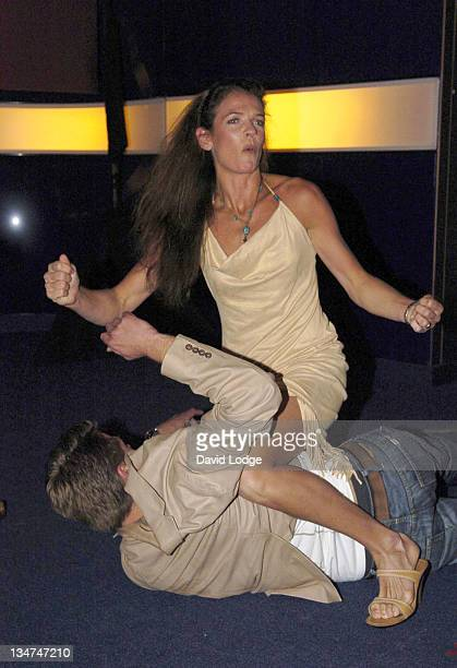 Andrew Castle and Annabel Croft during Hell's Kitchen II Day 3 Arrivals at 146 Brick Lane in London Great Britain