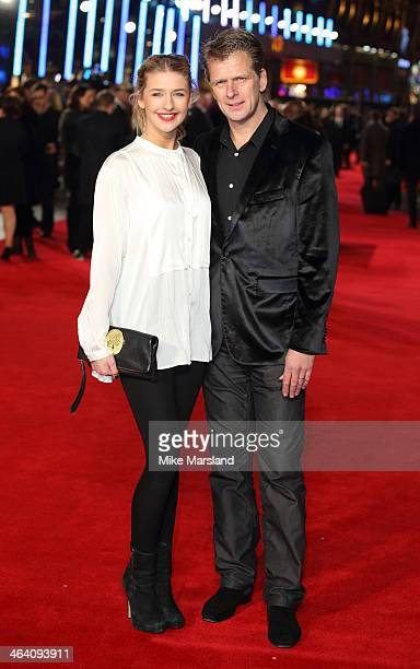 Andrew Castle and his daughter Georgina Castle attend the UK Premiere of Jack Ryan Shadow Recruit at Vue Leicester Square on January 20 2014 in...