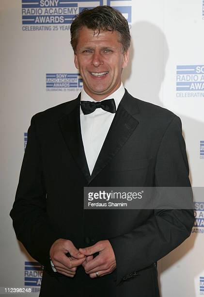Andrew Castle during Sony Radio Academy Awards 2007 Outside Arrivals at Grosvenor House Hotel in London United Kingdom