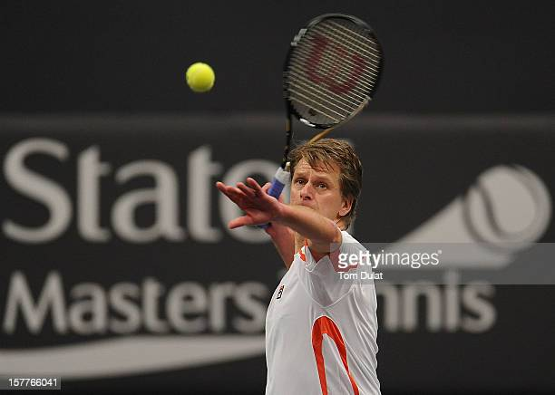 Andrew Castle of Great Britain in action during the match against Wayne Ferreira of South Africa and Peter McNamara of Australia on Day Two of the...