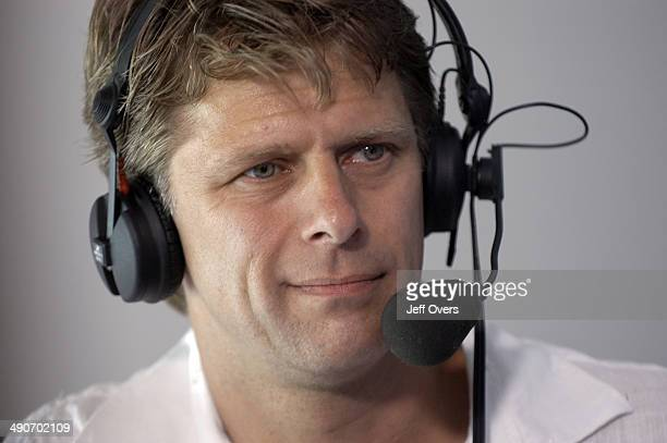 Andrew Castle seen in the BBC commentary box at Centre Court Andrew Castle is part of the BBC Sport commentary team at the Wimbledon Tennis...
