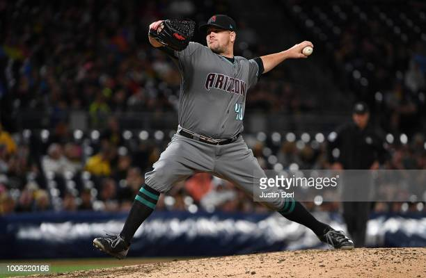 Andrew Chafin of the Arizona Diamondbacks delivers a pitch during the game against the Pittsburgh Pirates at PNC Park on June 22 2018 in Pittsburgh...