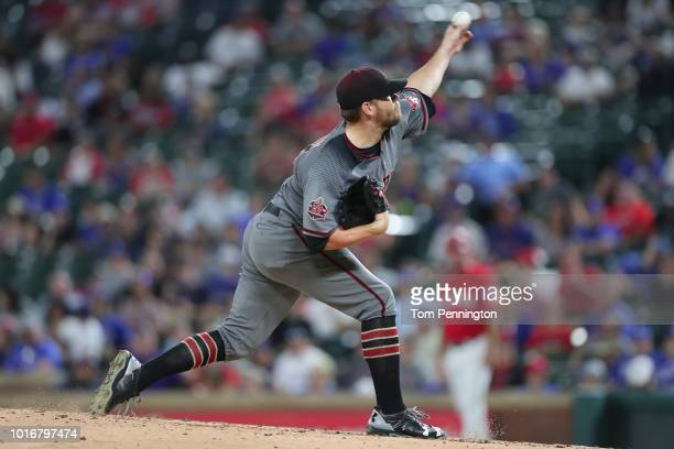 Andrew Chafin of the Arizona Diamondbacks pitches against the Texas Rangers in the bottom of the seventh inning at Globe Life Park in Arlington on...