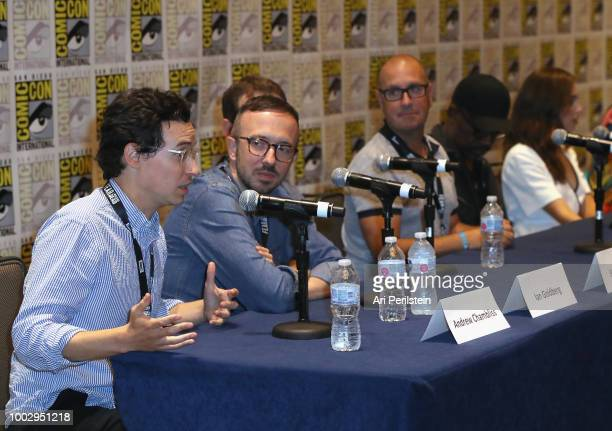Andrew Chambliss Ian Goldberg Scott M Gimple Michael Satrazemis Lennie James and Alycia DebnamCarey attend the 'Fear the Walking Dead' autograph...