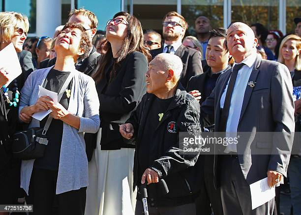 Andrew Chan's parents Helena Chan and Ken Yock Chan are seen after the funeral service for executed Bali nine member Andrew Chan at Hillsong Church...
