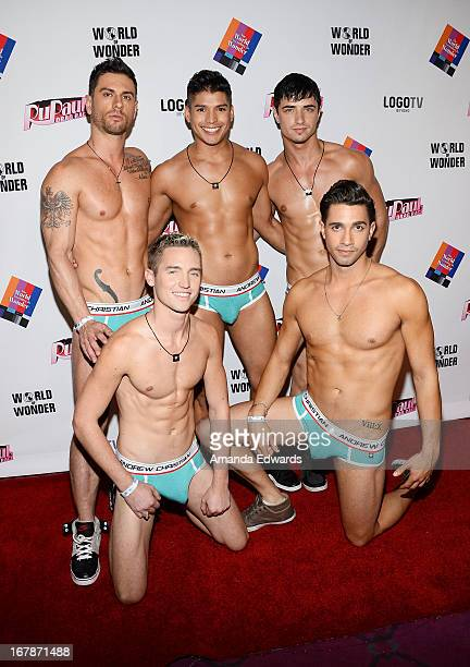 Andrew Christian underwear models arrive at 'Rupaul's Drag Race' Season 5 Finale Reunion Coronation Taping on May 1 2013 in North Hollywood California