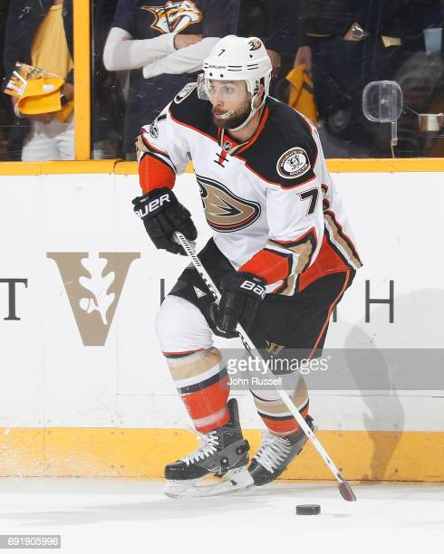 Andrew Cogliano of the Anaheim Ducks skates against the Nashville Predators in Game Six of the Western Conference Final during the 2017 NHL Stanley...