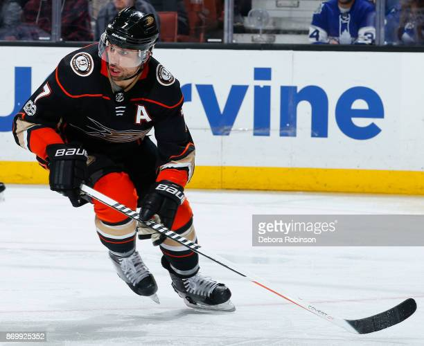 Andrew Cogliano of the Anaheim Ducks skates during the game against the Toronto Maple Leafs on November 1 2017 at Honda Center in Anaheim California