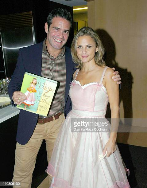 Andrew Cohen and Amy Sedaris during Bon Appetit and Warner Books Host a Party for Amy Sedaris' New Book I Like You at Dining Room at 4 Times Sq 4th...