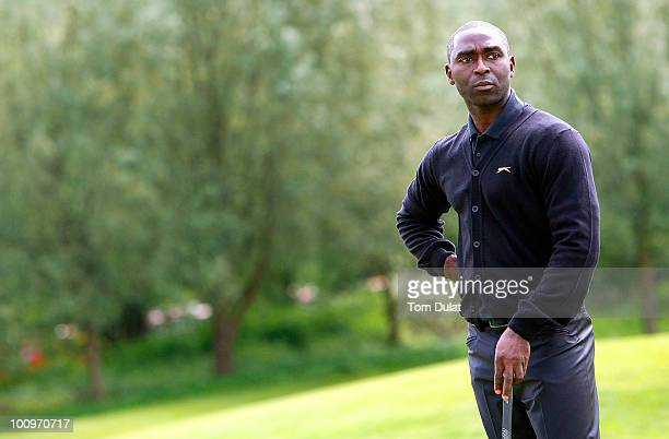 Andrew Cole looks away during the Andrew Cole Golf Day raising vital funds for youth charity The Prince's Trust at The Grove Golf Club on May 26 2010...