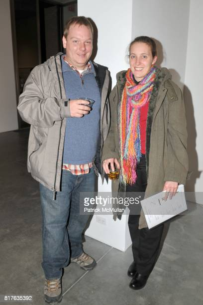 Andrew Colwell and Sarah Griffin attend Artist's Reception with NATHAN HARGER at Hasted Kraeutler on December 9th 2010 in New York City
