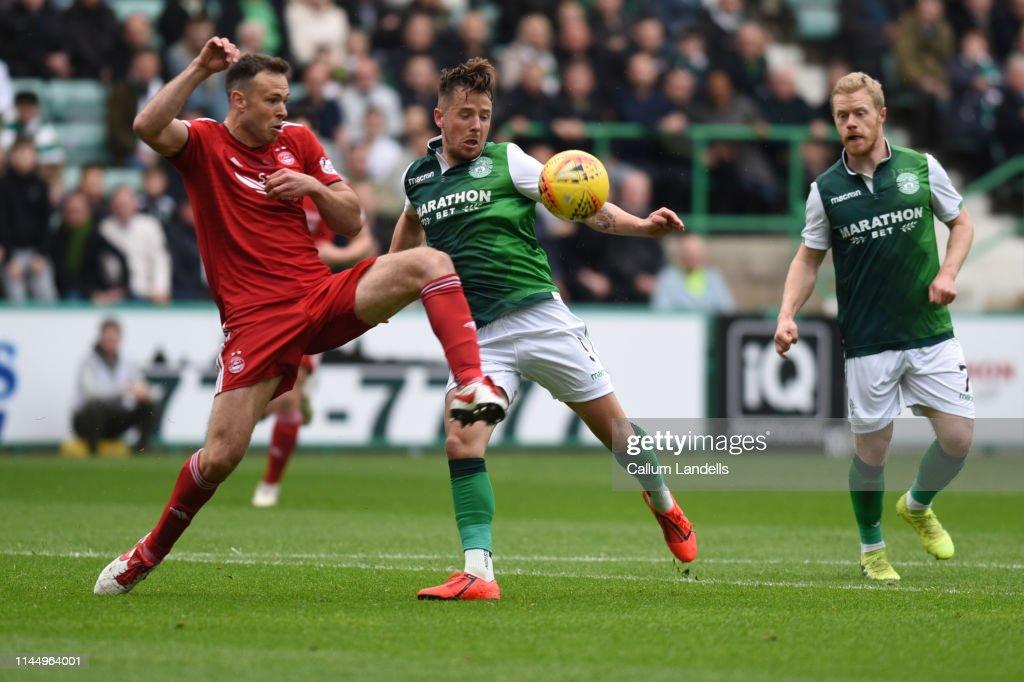 Hibernian v Aberdeen -  Scottish Ladbrokes Premiership : News Photo