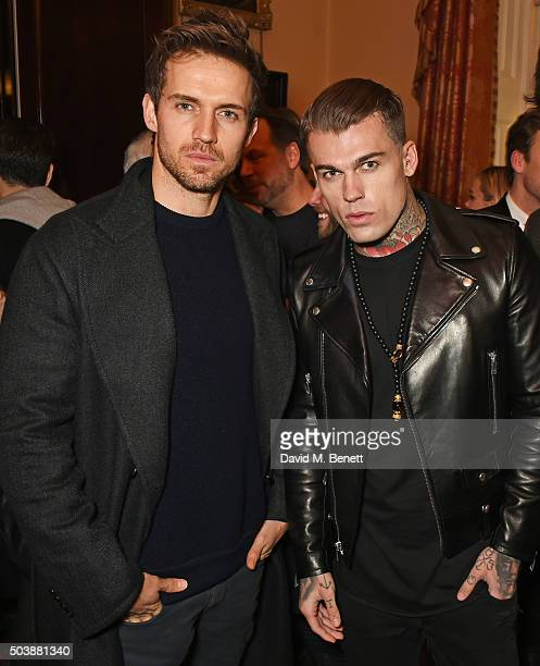 Andrew Cooper and Stephen James attend the London Collections Men AW16 opening party hosted by the British Fashion Council and GQ Editor Dylan Jones...