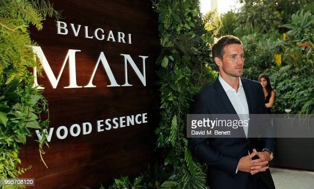 Andrew Cooper attends the BVLGARI MAN WOOD ESSENCE event at Sky Garden on July 10 2018 in London England