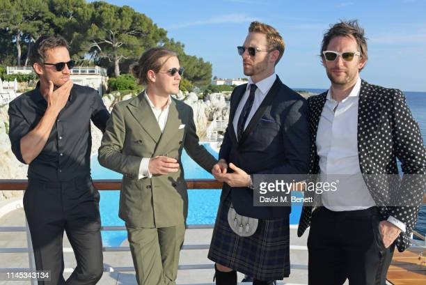 Andrew Cooper Charlie Settrington Craig McGinlay and Marc JacquesBurton attend the Gentleman's Journal and Chopard Road To Cannes dinner during the...