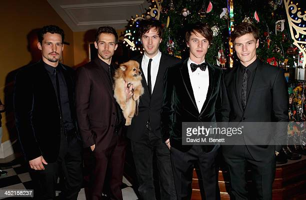 Andrew Cooper Issac Ferry Tara Ferry and Oliver Cheshire attends Claridge's Christmas Tree By Dolce Gabbana launch party at Claridge's Hotel on...