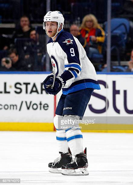 Andrew Copp of the Winnipeg Jets during the third period against the Buffalo Sabres at the KeyBank Center on January 7 2017 in Buffalo New York...