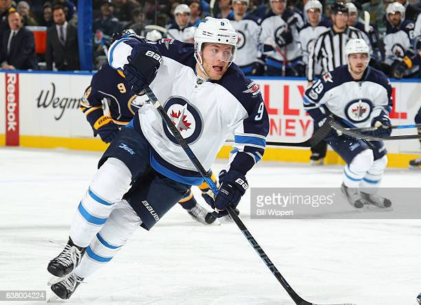Andrew Copp of the Winnipeg Jets skates against the Buffalo Sabres during an NHL game at the KeyBank Center on January 7 2017 in Buffalo New York...