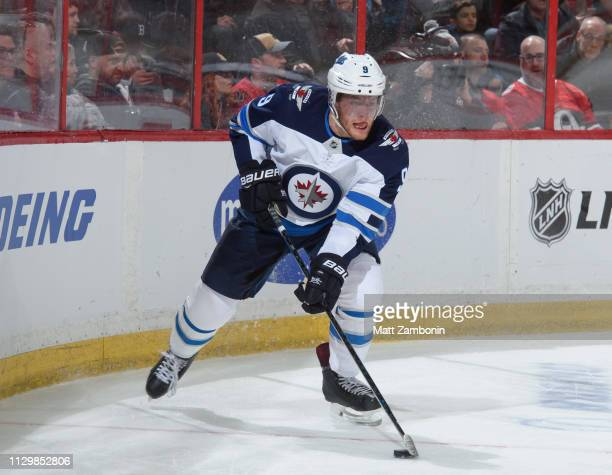 Andrew Copp of the Winnipeg Jets skates against the Ottawa Senators at Canadian Tire Centre on February 9 2019 in Ottawa Ontario Canada