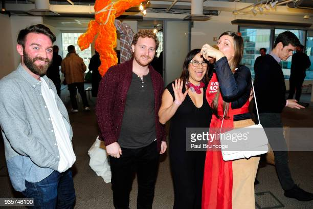 Andrew Courtien Beckett Mufson Marina GarciaVasquez and Ambre Kelly attend the SPRING/BREAK Collectors Press Preview at 4 Times Square on March 6...