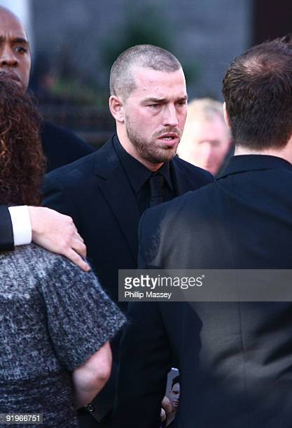 Andrew Cowles attends the funeral of his husband and Boyzone member Stephen Gately on October 17 2009 in Dublin Ireland
