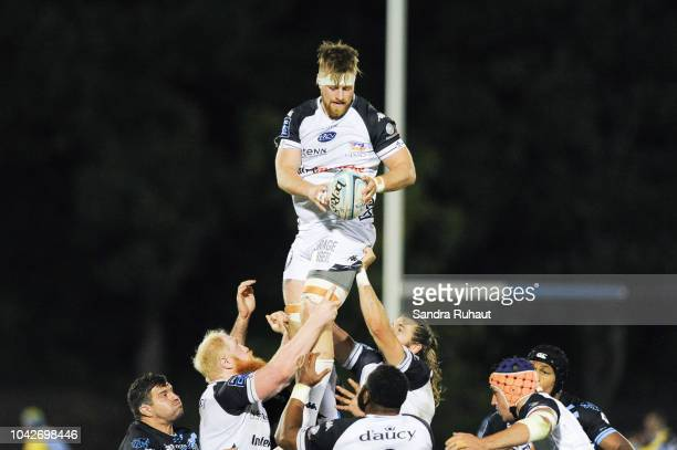 Andrew Cramond of Vannes during the Pro D2 match between Massy and Vannes on September 28 2018 in Massy France