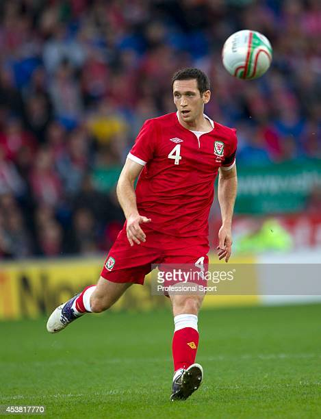 Andrew Crofts in action for Wales during the Wales v Norway International Friendly match at the Cardiff City Stadium on November 12, 2011 in Cardiff,...