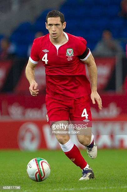 Andrew Crofts in action for Wales during the Wales v Norway International Friendly match at the Cardiff City Stadium on November 12 2011 in Cardiff...
