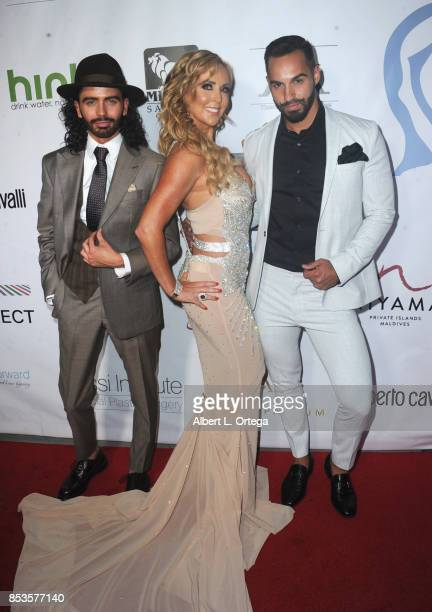 Andrew Cruickshank and CEO/Founder Deborah Alessi and guest arrive for the Face Forward 8th Annual Gala held at Taglyan Cultural Complex on September...