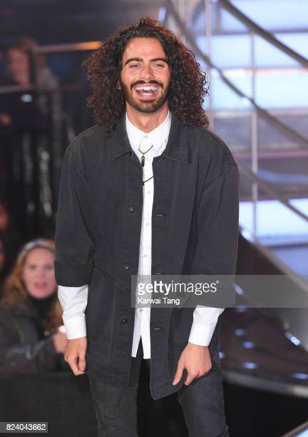 Andrew Cruickshanks leaves the Big Brother house during the 2017 Big Brother Final at Elstree Studios on July 28 2017 in Borehamwood England