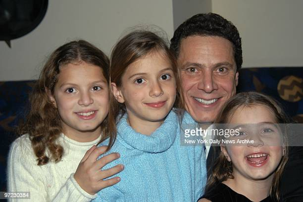Andrew Cuomo and daughters Cara Mariah and Michaela attend the release party for his book Crossroads at Osteria del Circo