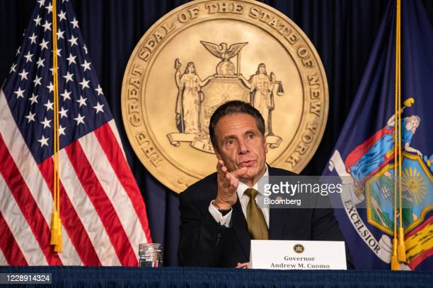 Andrew Cuomo, governor of New York, speaks during a news conference in New York, U.S., on Monday, Oct. 5, 2020. Governor Cuomosaid New York City...