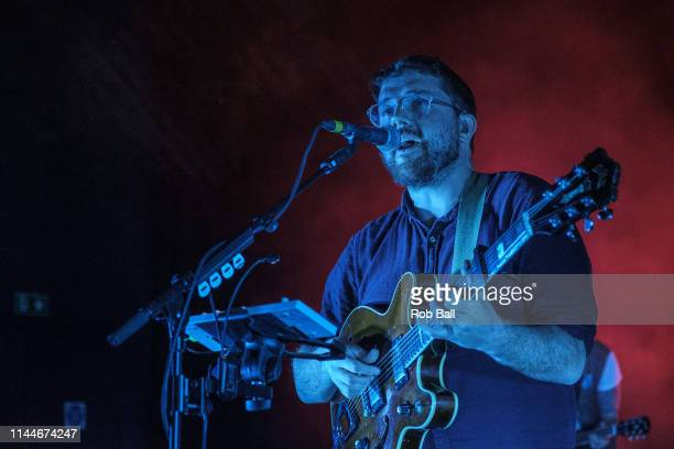 Andrew Davie from Bear's Den performs on stage at O2 Shepherd's Bush Empire on April 23 2019 in London England
