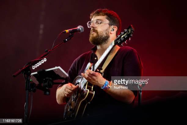 Andrew Davie of The british folk band Bear's Den performing live at Lowlands Festival 2019 on 18 August 2019 in Biddinghuizen Netherlands