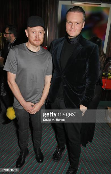 Andrew Davis and Anders Christian Madsen attend an after party celebrating the FENDI Sloane Street Boutique opening at Isabel on December 14 2017 in...