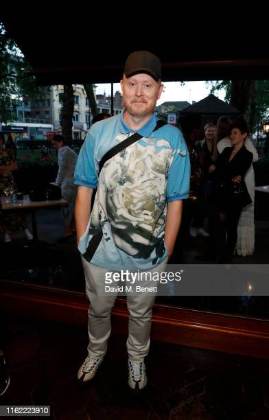 Andrew Davis attends the #MOVINGLOVE dinner hosted by Felicity Jones Derek Blasberg Katie Grand at Bellanger on July 15 2019 in London England