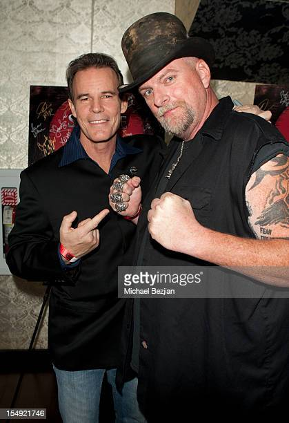 Andrew Debolt and actor Brett Wagner attend sCare Foundation's 2nd Annual Halloween Benefit Honoring Actor Malcolm McDowell And Kyle Richards Inside...