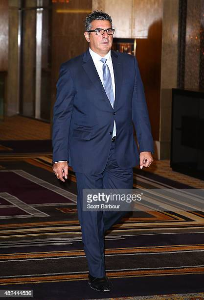 Andrew Demetriou Director of Crown Resorts arrives at Crown Resorts' second Reconciliation Action Plan launch on July 31 2015 in Melbourne Australia...