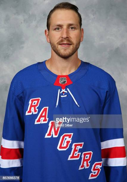 Andrew Desjardins of the New York Rangers poses for his official headshot for the 20172018 season on September 14 2017 in White Plains New York