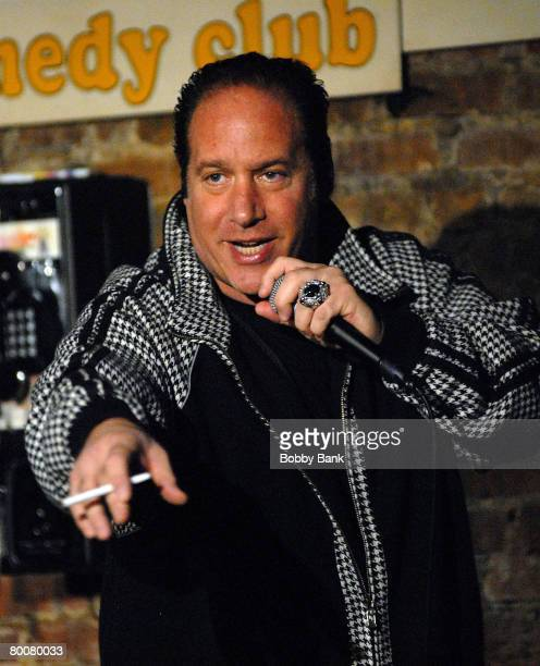 Andrew Dice Clay perfoms at Stress Factory Comedy Club on March 1, 2008 in New Brunswick, New Jersey.