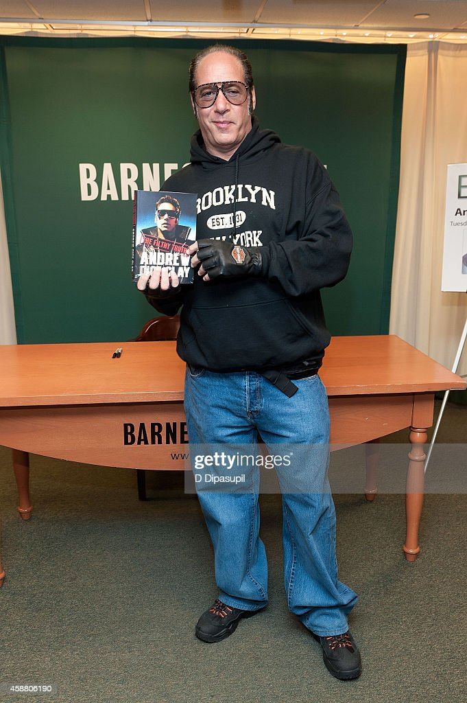 "Andrew Dice Clay Signs Copies Of His Book ""Filthy Truth"""