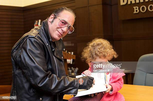 """Andrew Dice Clay Signs Copies of """"The Filthy Truth"""" at Barnes & Noble bookstore at The Grove on November 20, 2014 in Los Angeles, California."""